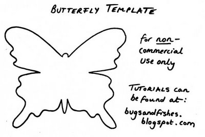 Бумажные бабочки в интерьере. Шаблон бабочки (11) (400x267, 42Kb)