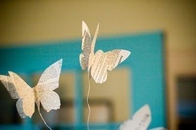 Бумажные бабочки в интерьере. Шаблон бабочки (14) (400x266, 42Kb)