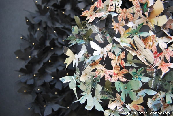 Бумажные бабочки в интерьере. Шаблон бабочки (29) (600x401, 224Kb)