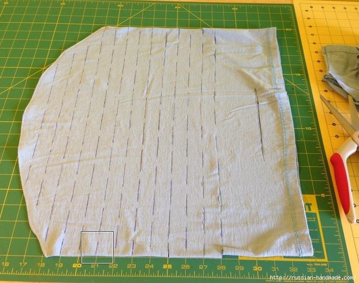 Как сделать авоську из старой футболки (2) (700x552, 306Kb)