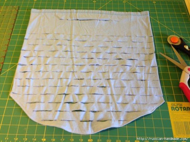 Как сделать авоську из старой футболки (12) (620x465, 161Kb)