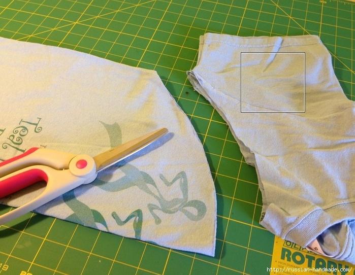 Как сделать авоську из старой футболки (16) (700x542, 307Kb)
