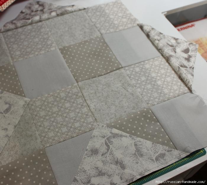 Рождественская салфетка. Лоскутное шитье. Мастер-класс (21) (700x627, 290Kb)