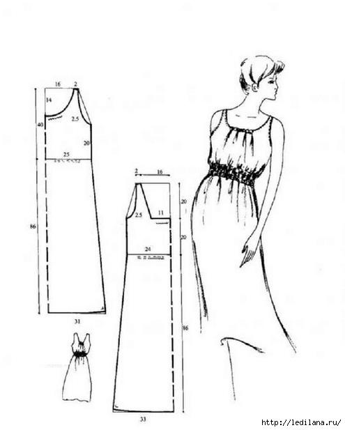 Скачать выкройки платья и сарафана