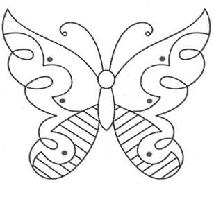 шаблоны бабочек. - Самое интересное в блогах