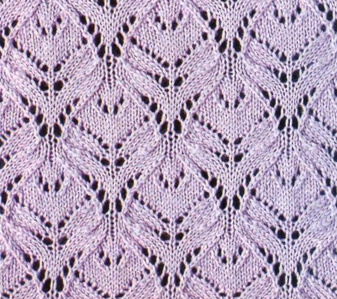 Ажурный узор (вязание спицами, схема) .