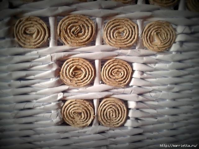 Плетение из газет. Поделки из колечек и тарелка из трубочек (13) (640x480, 213Kb)