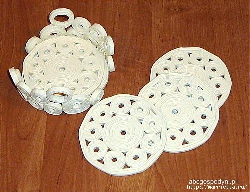 Плетение из газет. Поделки из колечек и тарелка из трубочек (28) (500x385, 207Kb)