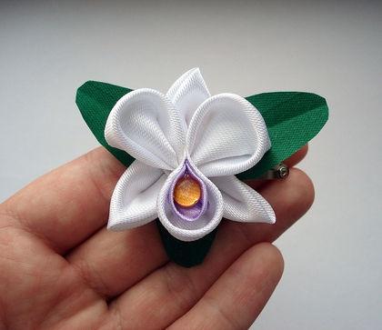 Орхидея канзаши мастер класс с пошаговым фото для начинающих