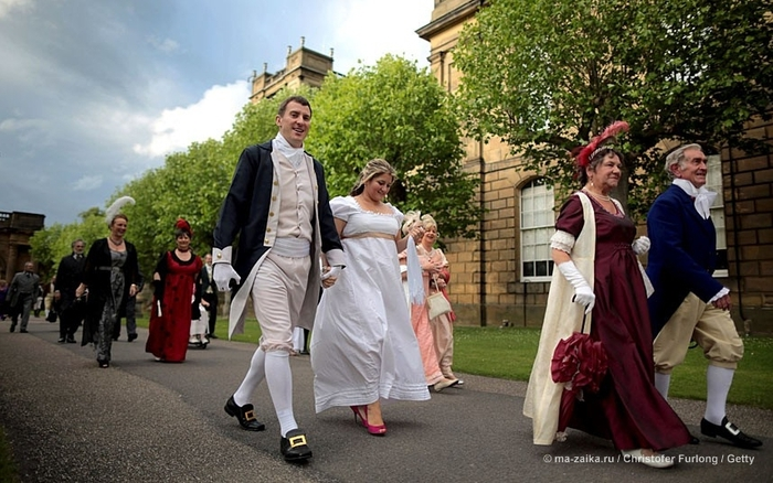 Поклонники Jane Austen's Pride and Prejudice собрались в Chatsworth House