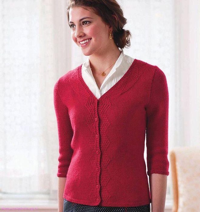 红色针织毛衣 - maomao - 我随心动