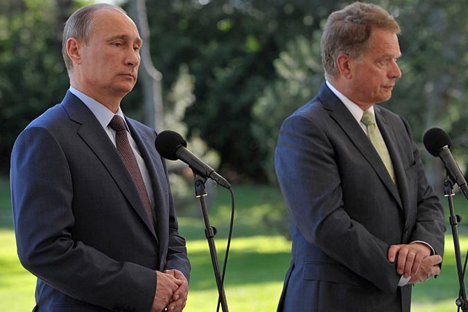 Путин в Финляндии