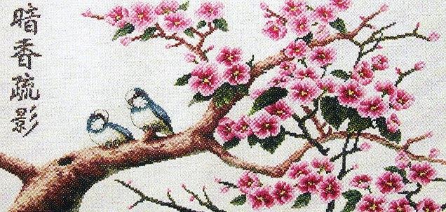 Японская вышивка крестом, схемы.