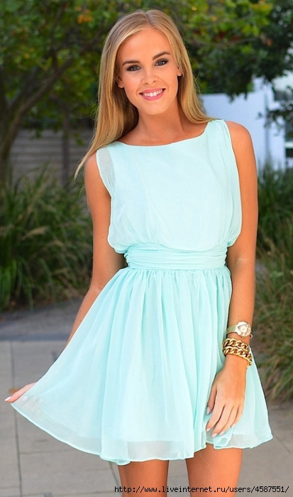 Мятное платье фото 3