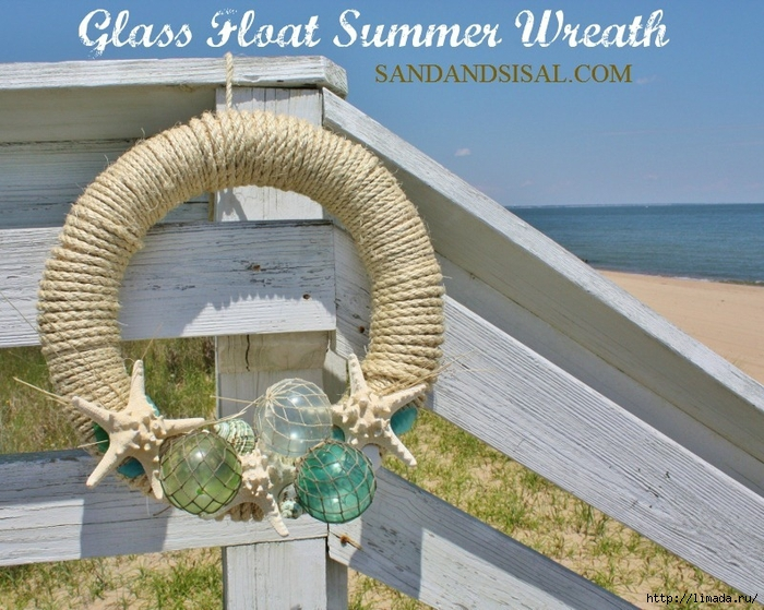 Glass Float Summer Wreath thumbnail[6] (700x559, 336Kb)
