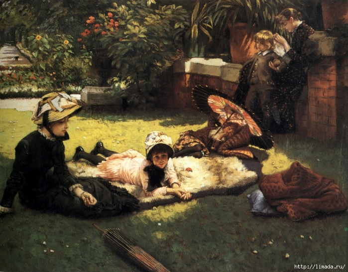 James Tissot - In the Sunshine (700x546, 337Kb)