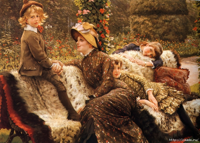 James Tissot - The Garden Bench (700x499, 384Kb)