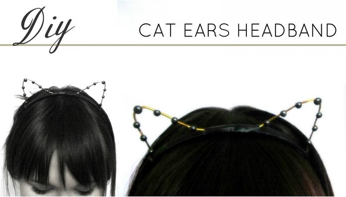 Кошачьи ушки из бумаги