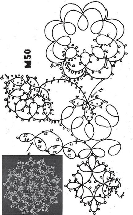 Схемы вязания фриволите 47