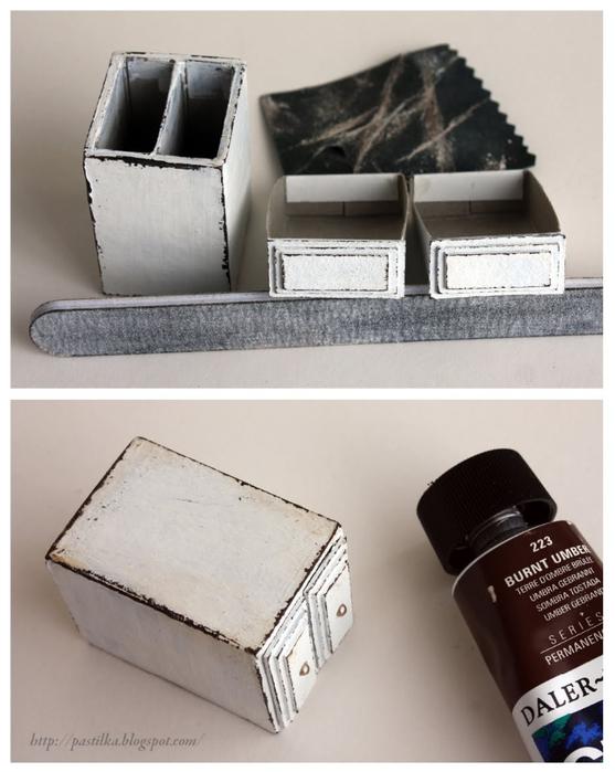 Маленький шебби-комодик из спичечных коробков. Мастер-класс (13) (557x700, 203Kb)