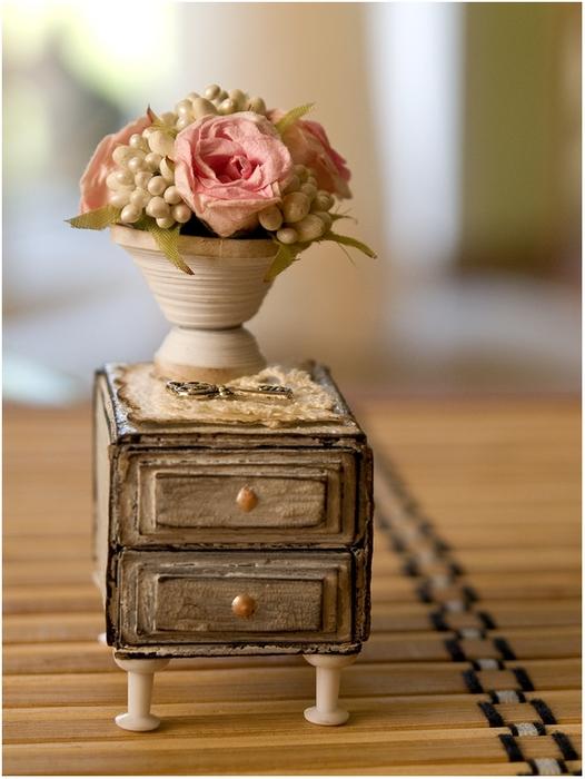 Маленький шебби-комодик из спичечных коробков. Мастер-класс (23) (526x700, 241Kb)