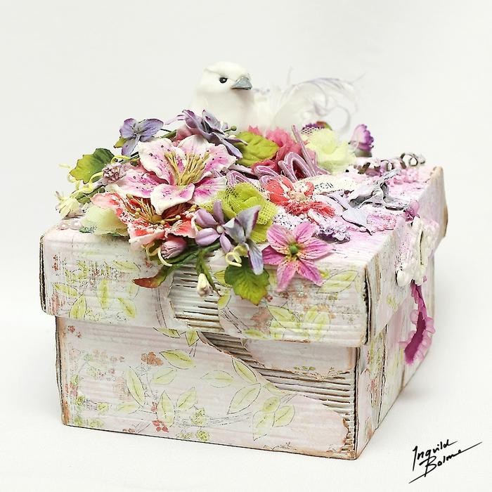 Коробочки для подарка из ободранного гофрокартона. Фото идеи (7) (700x700, 361Kb)
