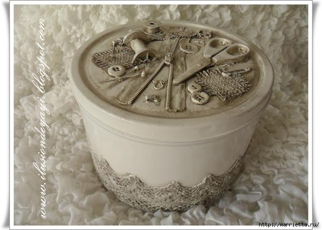 Швейный стимпанк) Декор шкатулки швейными принадлежностями. Мастер-класс (1) (640x457, 177Kb)