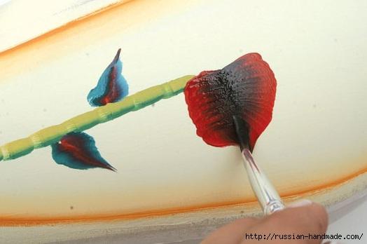 Роспись стеклянной вазы для ванной комнаты. Фото мастер-класс (9) (524x348, 89Kb)