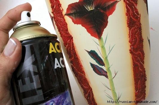 Роспись стеклянной вазы для ванной комнаты. Фото мастер-класс (16) (532x350, 124Kb)