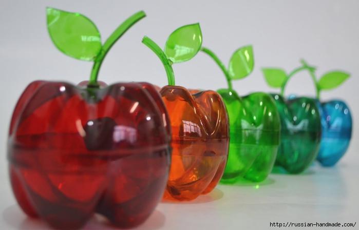 яблочки из пластиковых бутылок (4) (700x448, 156Kb)