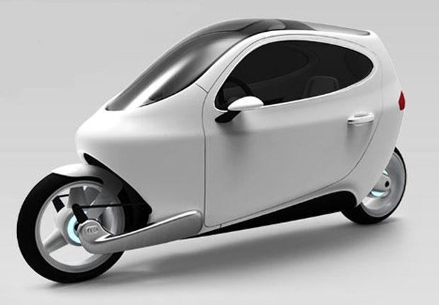 Motors' C-1 electric гибрид мотоцикла и автомобиля фото 2 (620x431, 73Kb)