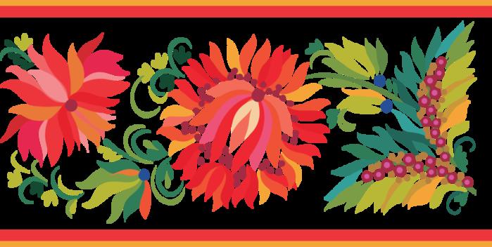 Городецкая роспись картинки цветов 3
