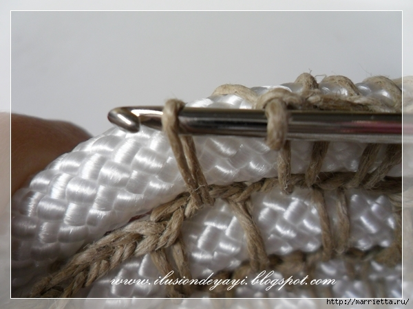 Корзинка из нейлоновой веревки и шпагата. Мастер-класс (11) (600x450, 171Kb)