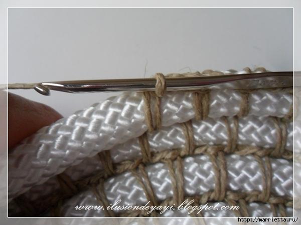 Корзинка из нейлоновой веревки и шпагата. Мастер-класс (17) (600x450, 175Kb)