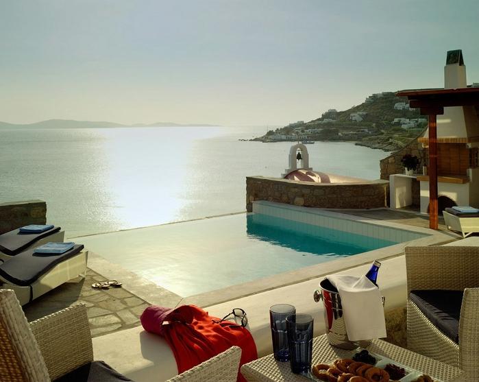 пятизвездочный отель на острове миконос