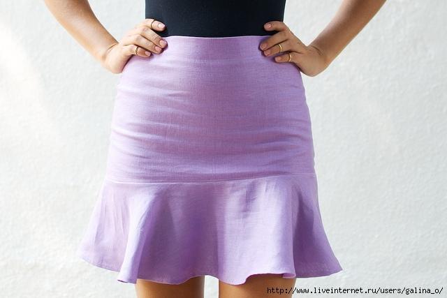 Сшить юбку с воланом внизу