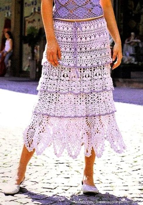 Ажурная юбка и топ