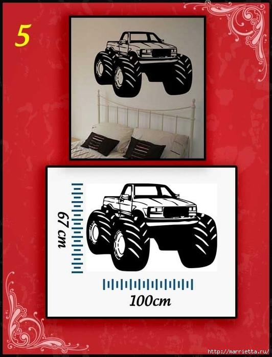 Ретро АВТОМОБИЛЬ на стене. Шаблоны автомобилей (5) (532x700, 203Kb)