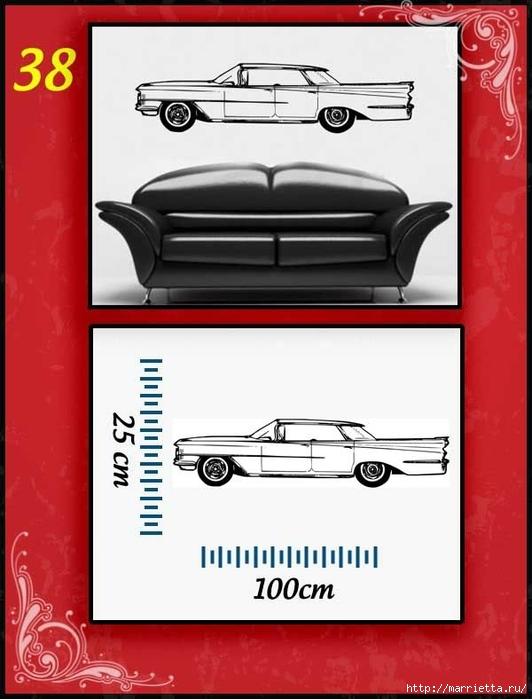 Ретро АВТОМОБИЛЬ на стене. Шаблоны автомобилей (38) (532x700, 180Kb)
