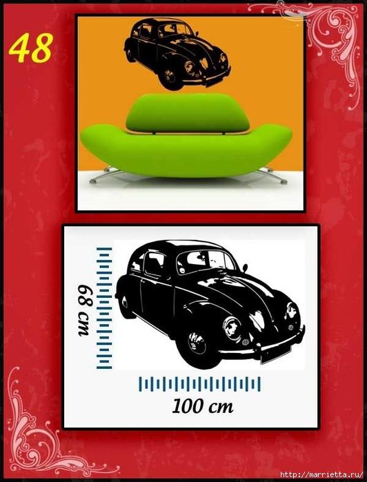 Ретро АВТОМОБИЛЬ на стене. Шаблоны автомобилей (48) (532x700, 196Kb)
