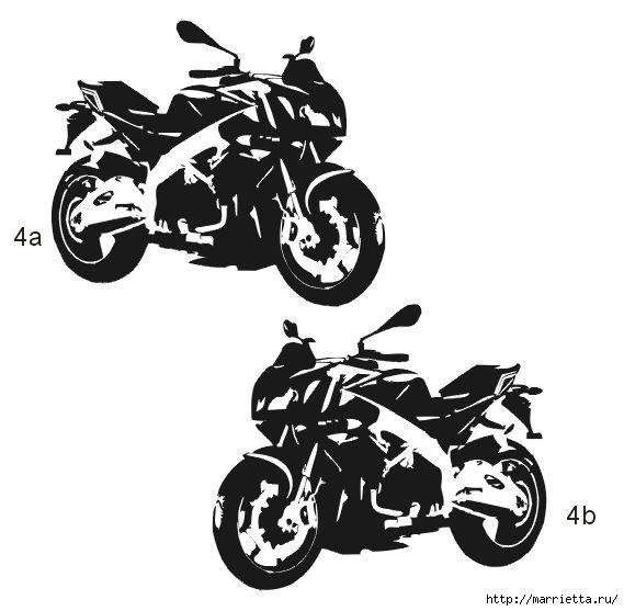 шаблоны ретро автомобилей и мотоциклов для стены (3) (569x557, 98Kb)