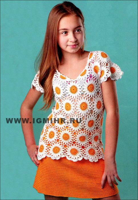 Крючком юбка для девочки 11 лет