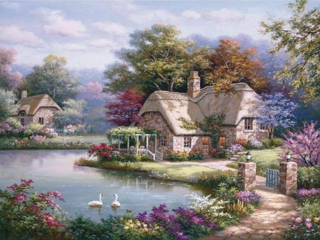 Райское наслаждение от Sung Kim 1940 - South Korea. ПЕЙЗАЖИ (2) (640x481, 266Kb)
