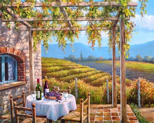 Райское наслаждение от Sung Kim 1940 - South Korea. ПЕЙЗАЖИ (8) (640x513, 330Kb)