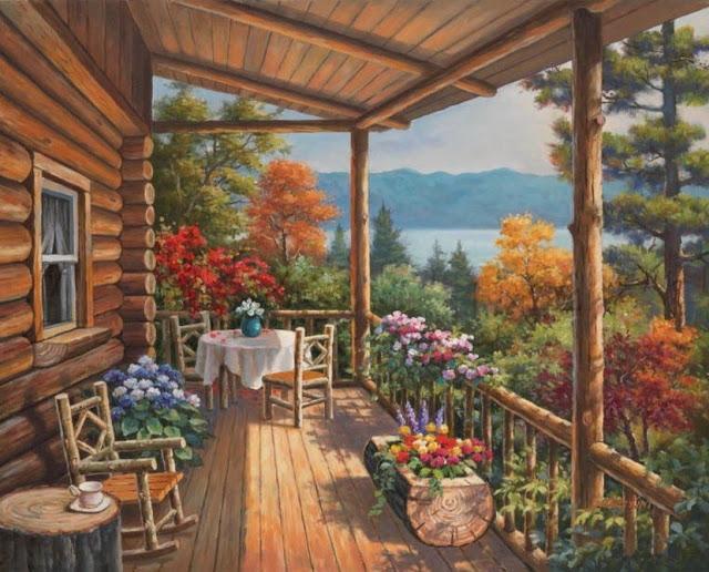 Райское наслаждение от Sung Kim 1940 - South Korea. ПЕЙЗАЖИ (12) (640x516, 271Kb)