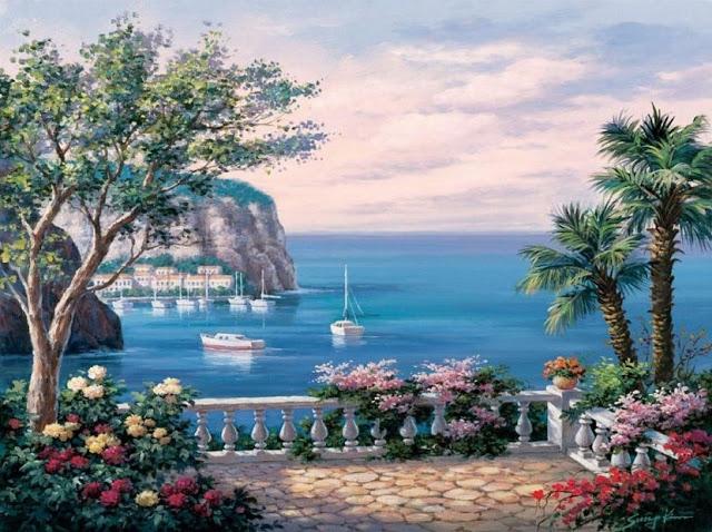 Райское наслаждение от Sung Kim 1940 - South Korea. ПЕЙЗАЖИ (16) (640x478, 274Kb)