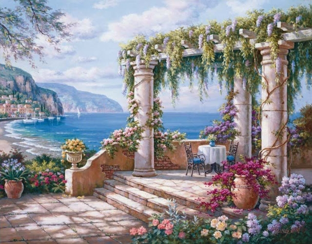 Райское наслаждение от Sung Kim 1940 - South Korea. ПЕЙЗАЖИ (18) (640x500, 288Kb)