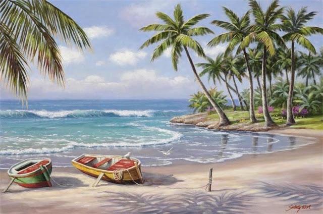 Райское наслаждение от Sung Kim 1940 - South Korea. ПЕЙЗАЖИ (28) (640x424, 202Kb)