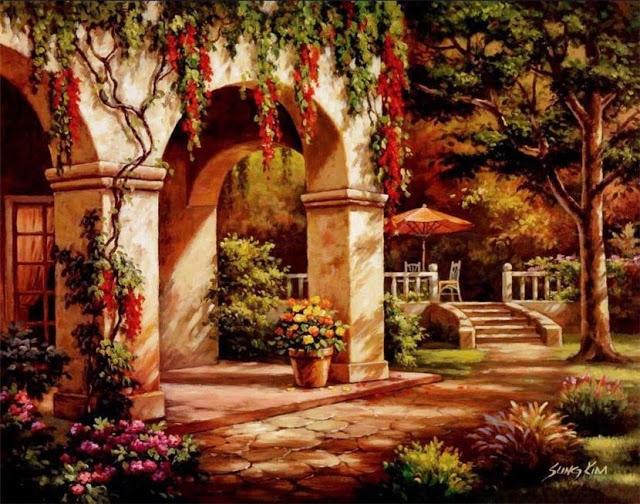 Райское наслаждение от Sung Kim 1940 - South Korea. ПЕЙЗАЖИ (36) (640x504, 303Kb)