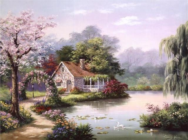 Райское наслаждение от Sung Kim 1940 - South Korea. ПЕЙЗАЖИ (42) (640x477, 233Kb)